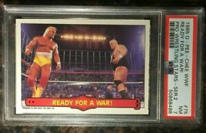 "1985 OPC WWF #75 ""Ready For a.."" Hulk Hogan PSA 7 NM Series 2 WWE Wrestling Card"