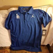 LOS ANGELES DODGERS POLO SHIRT - YOUTH BOYS LARGE - AIR JORDAN - NWT