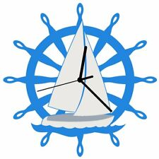 Euphyllia-Tempus Sailboat Wall Clock 28cm (e9604)