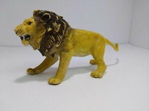 "Large vintage AAA Lion Hard Rubber PVC realistic wildlife Animal Figure 9"" long"