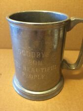 "VTg Things Remembered Pewter Tankard ""goodbye From The Beautiful People"""