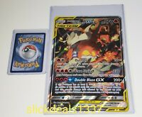 Reshiram and Charizard GX SM 201 Pokemon JUMBO sized Card + Hard Loader Sleeve