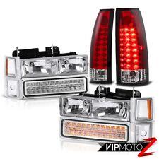 LED Upgrade! For 94-99 Chevy Suburban Tahoe Silverado Red Tail Light+Headlight