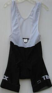 Performance men's poly/lycra blend padded cycling bib shorts size medium