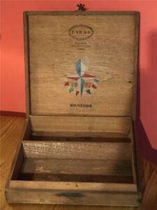 Rare Laras Jamaica Festival Of Britain 1951 Empty Souvenir Cigar Box