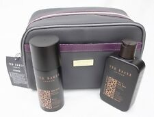 New Ted Baker Men's Fitzrovia Gift Wash Bag with 2 Item Hair/Body Wash & Spray.