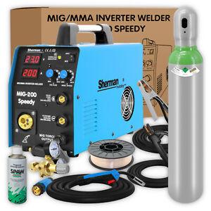 Sherman® MIG 200 SPEEDY Schweißgerät MIG MAG 200amp FCAW ARC MMA - Schweißset