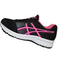 ASICS WOMENS Shoes Patriot 8 - Black, Hot Pink & White - T669N-9020