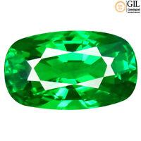 1.32 ct VVS! GIL CERTIFIED CUSHION (8 X 5 MM)  GREEN TSAVORITE GARNET GEMSTONE