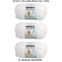 Yarnspirations Bernat Baby Blanket Yarn 3-Pack Peachy Knitting 72 yd//Roll CHOP