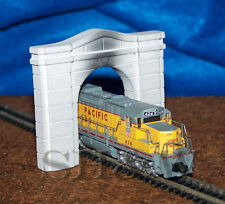 Arched Concrete Single Track Tunnel Portal in N scale - Twin Pack