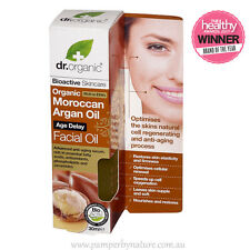 Dr Organic Moroccan Argan Oil Facial Oil 30ml Age Delay