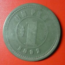 CHILE BAKELITE TOKEN Club de la Union $1 (1892)