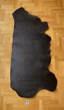 Veg Tan Leather 2,9-3,3mm Black Finished Side 1,5m2 Full Grain Premium Quality