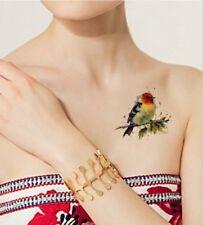 SHIP FROM NY - temporary tattoo - Watercolor Bird