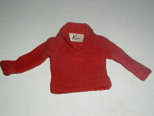 Vintage 1960's Ken Doll Red Sweater, Barbie, Excellent Condition!