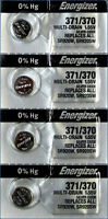 371 Energizer Silver Oxide Watch / Electronic Battery 4 Pcs
