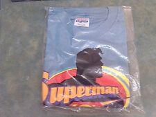 Superman silhouette & logo symbol men's tee shirt large