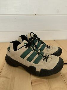Adidas VTG Mens Sneakers Trainer Shoes Beige 90's Size UK 10.5 11 US Rare