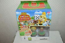 Nintendo Wii U Animal Crossing Amiibo Festival 2 Figures & 3 Card WiiU