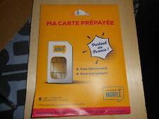 carte prépayée la poste mobile neuve avec crédit de 10 €uros - carte sim