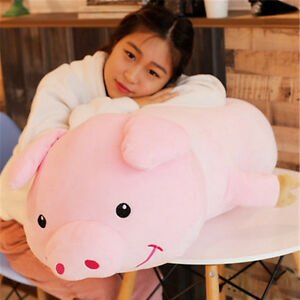 Giant Big Soft Best Pig Plush Pillow Toys 35in Kawaii Stuffed Animal Doll gift