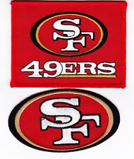 SAN FRANCISCO 49ers (2) SEW/IRON ON PATCH EMBLEM 3x4 EMBROIDERED NFL FOOTBALL