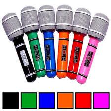 6x Aufblasbares Mikrofon 24 cm Microphon Microfon Microphone