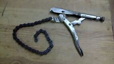 Vintage Petersen Dewitt Chain Wrench Vise Grip 20R USA