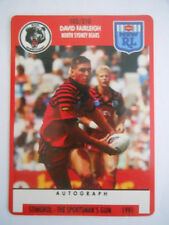 1991 Season Single NRL & Rugby League Trading Cards