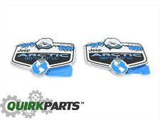 Jeep Wrangler Cherokee Compass Patriot Liberty ARTIC Emblem SET OF 2 MOPAR OEM