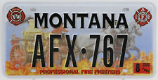Plaque d'immatriculation américaine MONTANA Professional Fire Fighters