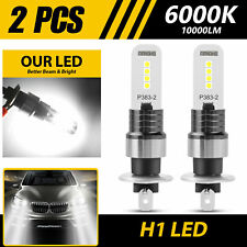 New listing 2pcs H1 Cob Led Fog Light Driving Drl Lamp 6000K Super Bright White 100W 10000Lm