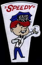 Speedy kayo Patch Hot Rod Mechanic Drag Race Nostalgia