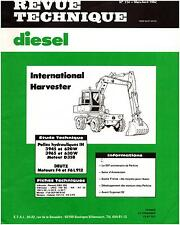 ▬►REVUE TECHNIQUE de 1982 IH INTERNATIONAL PELLES HYDRAULIQUES 3945-3965