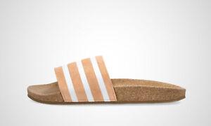 "adidas Adilette W ""Cork"" peach/weiß, Damen, Art. FX5919, NEU im Karton"
