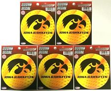 """Lot of 5 Officially Licensed 4 1/2"""" round decals Iowa Hawkeyes"""