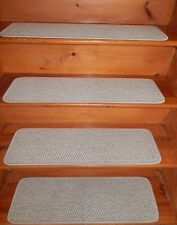"14 Step  9"" X 30"" + Landing 30"" x 30"" Tufted Woven WOOL Carpet Stair Treads."