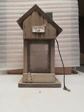 Handmade Wooden Hanging Birdfeeder
