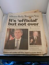 IT'S OFFICIAL BUT NOT OVER DENVER ROCKY MOUNTAIN NEWS COMPLETE NEWSPAPER 11-27
