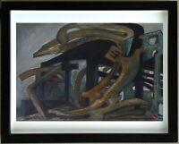 G. VON DER LOO (1911/1996)  Gouache - COMPOSITION SURREALISTE   - Signé