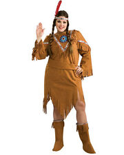 Native American Womens Costume Western Theme Indian Ladies Plus Size