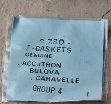 Vintage Bulova Accutron 218 watch pack of 2 case gaskets Nos parts #G780