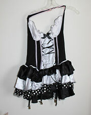 Women's Maid Perfect Costume Black/White Sexy Dress Sz: Medium 6-10