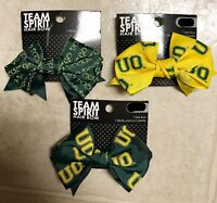 LOT OF 3 University of Oregon Ducks Officially Licensed Team Spirit UO Hair Bow