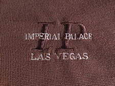 Imperial Palace Casino LAS VEGAS Polo Shirt Brown Mens Large Embroidered Logo !!