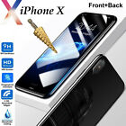 9H Tempered Glass screen protector & 4H film Apple iPhone X front + back
