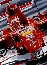 Michael Schumacher 70 x 90 cms limited edition F1 art print by Colin Carter