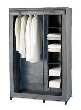 Kleiderschrank Liberta, Garderobe, Wäscheschrank, grau, mit Wäschesortierung