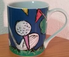 """Save the Children Ceramic Coffee Mug Cup by Brett Age 10 """"Fore"""" Golf Clubs Balls"""